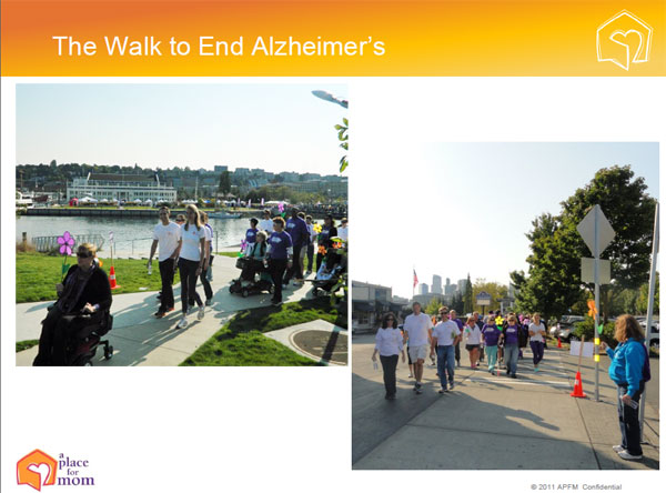 A Place for Mom in Support of the Walk to End Alzheimer's
