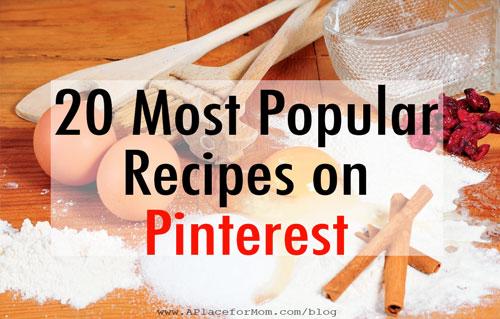 20 Most Popular Recipes on Pintrest