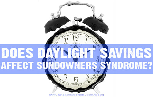 Does Daylight Savings Time Affect Sundowner's Syndrome?