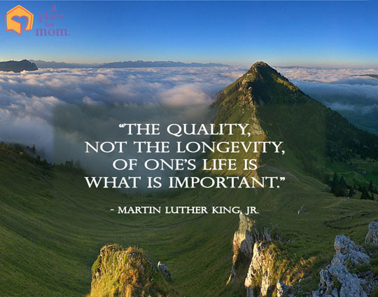 MLK Quote Quality Not the Longevity of Life