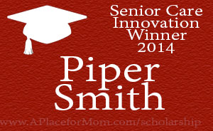 Senior Care Innovation Winner 2014 Piper Smith