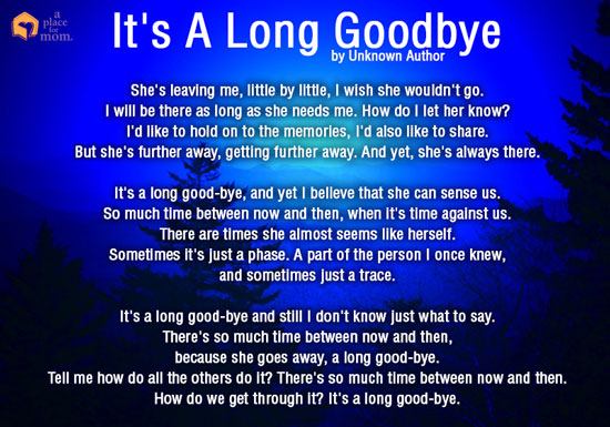 its a long goodbye