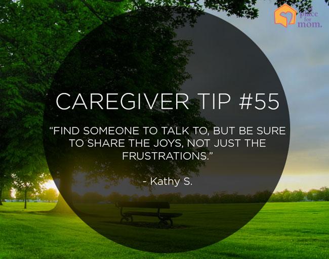 Caregiver Tip #55: Share The Joys