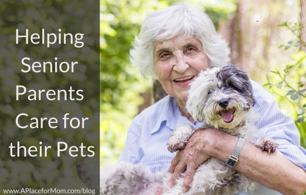 Helping Senior Parents Care for their Pets