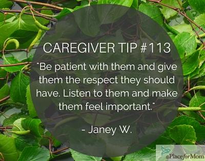 Caregiver Tip #113