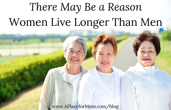 There May Be a Reason Women Live Longer Than Men