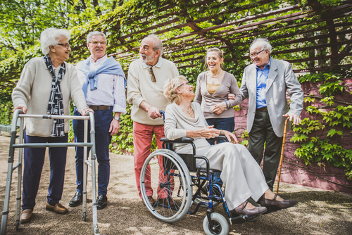 Elders with mobility issues enjoy parks
